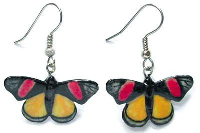 Painted Beauty Butterfly Earring - Porcelain Animal Figurines - Little Critterz Jewelry