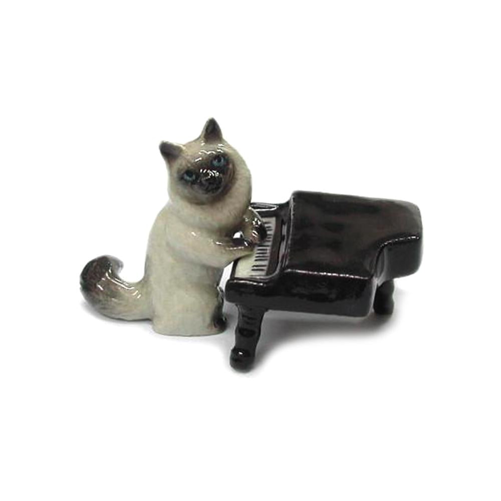 Cat with Piano - Porcelain Animal FIgurines - Northern Rose, Little Critterz