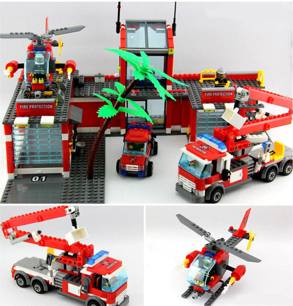 New City Fire Station Educational Bricks Toy