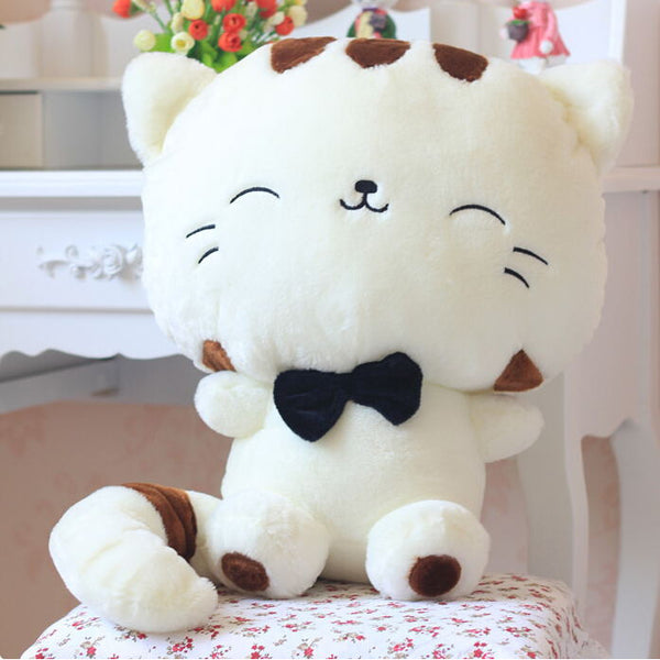 Big Face Smiling Cat Plush Toy