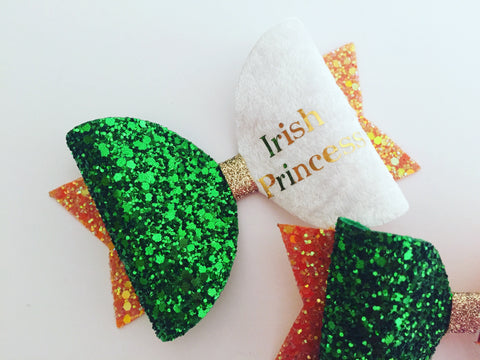St. Patrick's Day- Irish Princess Bows