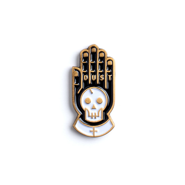 Dust enamel pin from Beeteeth. Coven worthy goods hand picked by East Wick.