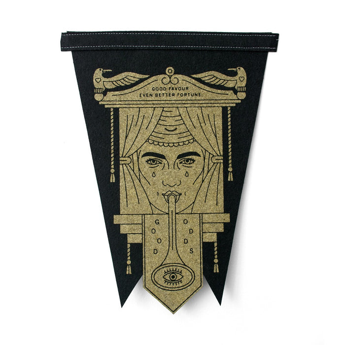 Fortune Teller Pennant by Beeteeth. Screen Printed wall decor.