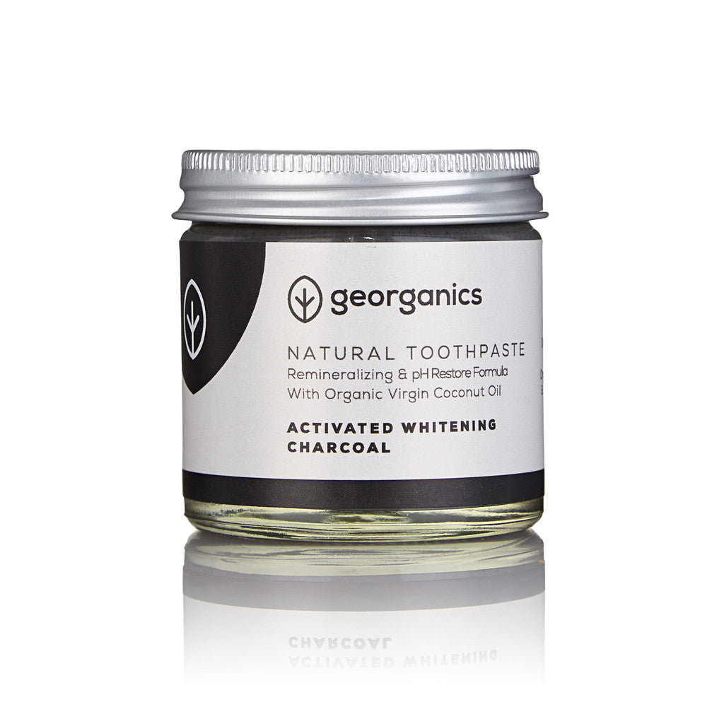 Natural Organic Coconut Oil Toothpaste - Activated Whitening Charcoal - EAST WICK