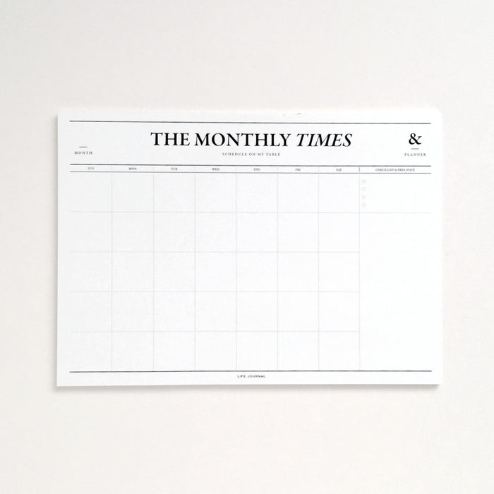 The Monthly Times Desk Planner - EAST WICK
