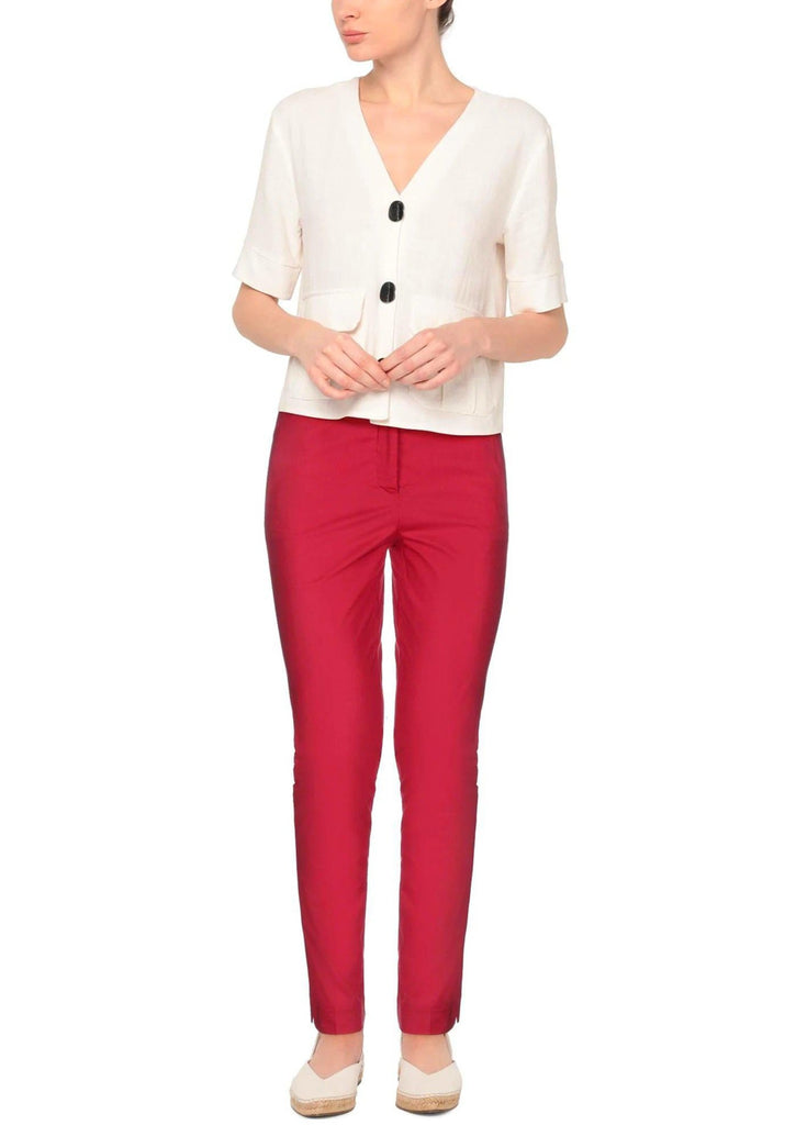 Paprika Cotton Chino-Pants-Rosso35-Debs Boutique
