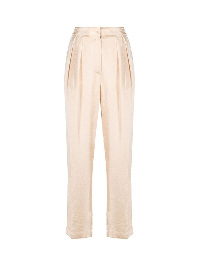 Viscose Cloquet Satin Highwaist Pants-Pants-forte_forte-Debs Boutique