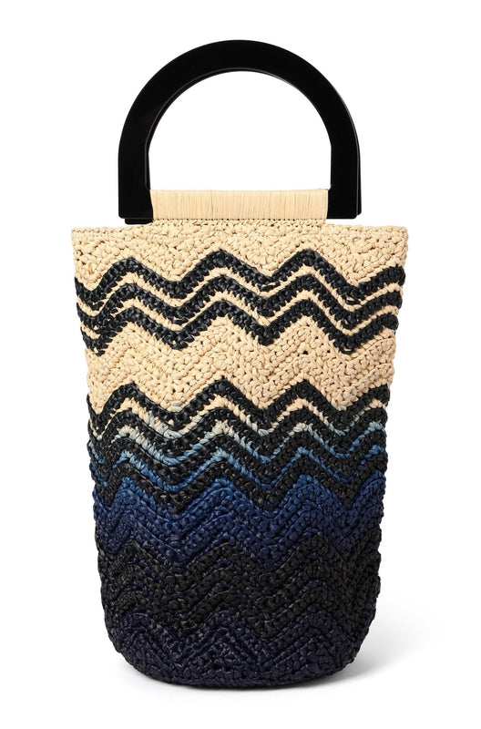 Ombre Raffia Small Shopper-M Missoni-Debs Boutique