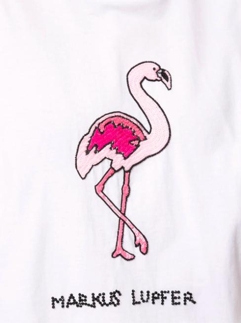 Alex Sequin Flamingo Tee-Markus Lupfer-Debs Boutique