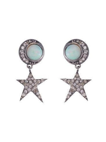 Opal Moon Star Earring SET - Debs Boutique