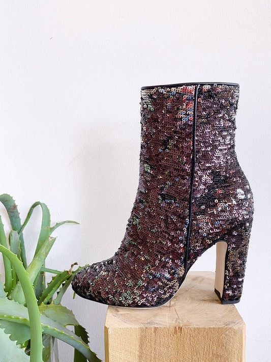 Sequin Ankle Boot-Paris Texas-Debs Boutique