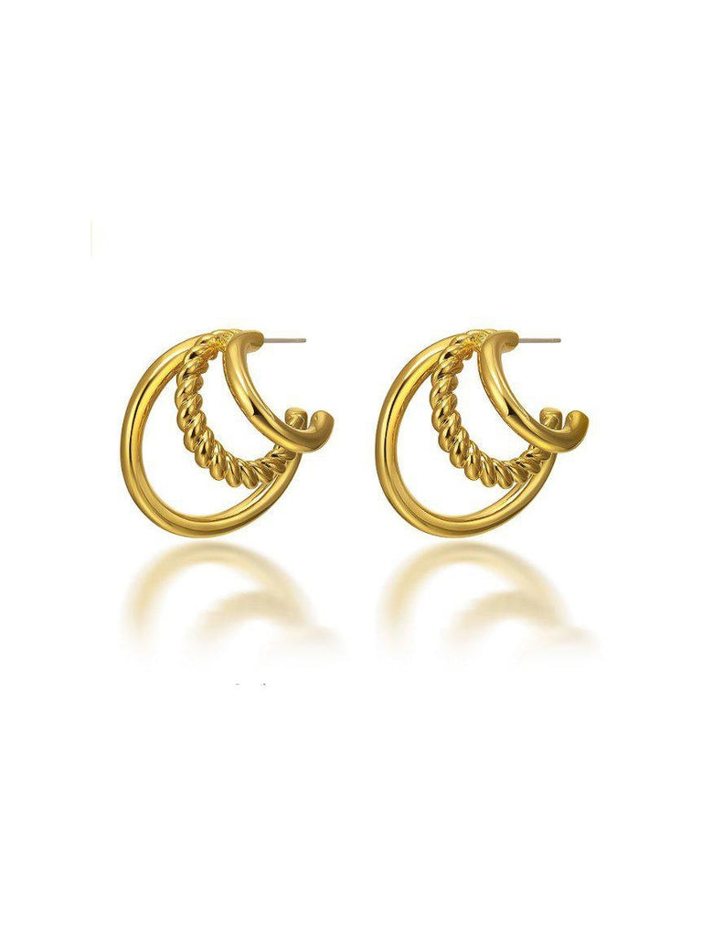 3 Layer Hoops-Earrings-Queen and Collection-Debs Boutique