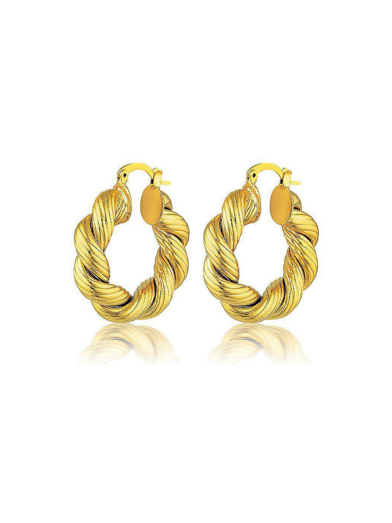 Twisted Hoops-Earrings-Queen and Collection-Debs Boutique