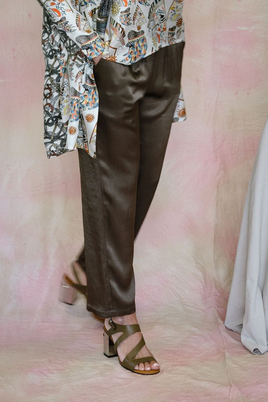 Ankle Pant in Moss-Raquel Allegra-Debs Boutique