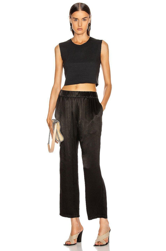 Raquel Allegra Ankle Pant in Black at Debs Boutique - styled on model
