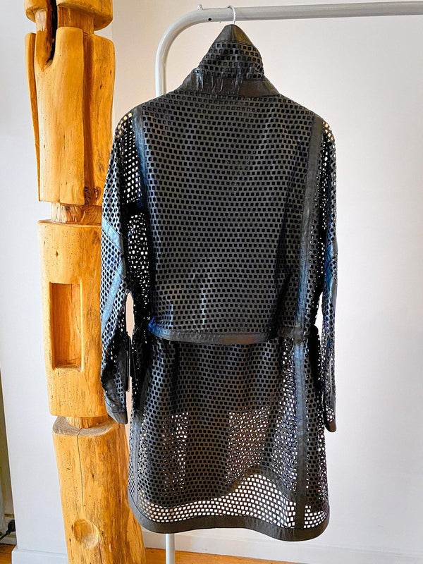 Burn Net Leather Coat-Coat-Annette Gortz-Debs Boutique