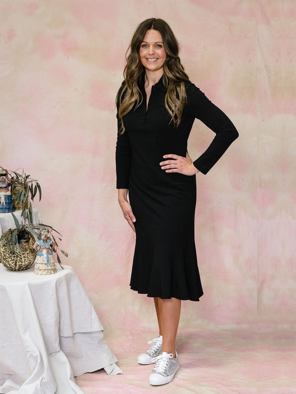 Crepe Polo Dress-Dress-Aspesi-Debs Boutique