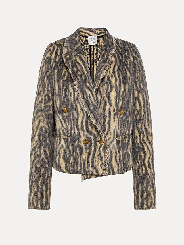 Animalier Jacquard Spencer Jacket-Jacket-forte_forte-Debs Boutique