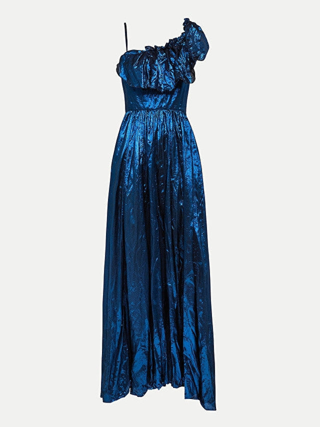 silk viscose lurex chic dress-Dress-forte_forte-Debs Boutique