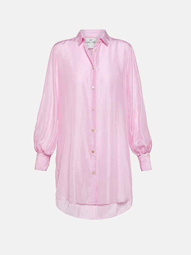 Habotai Silk Long Shirt-Shirt-forte_forte-Debs Boutique