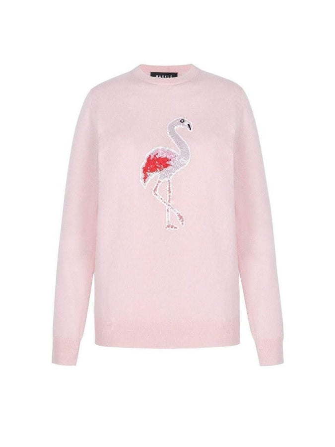 Mia Sequin Flamingo Jumper-Markus Lupfer-Debs Boutique
