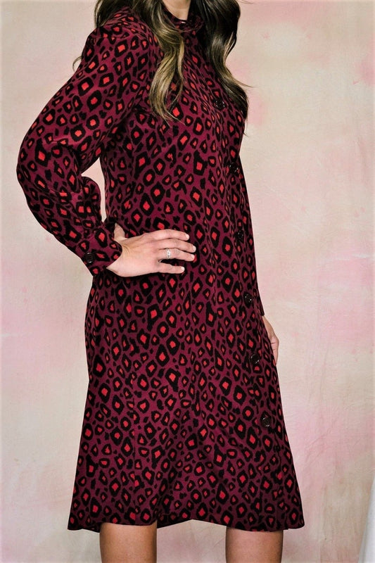 Leopard Silk Shirtdress-Dress-Aspesi-Debs Boutique