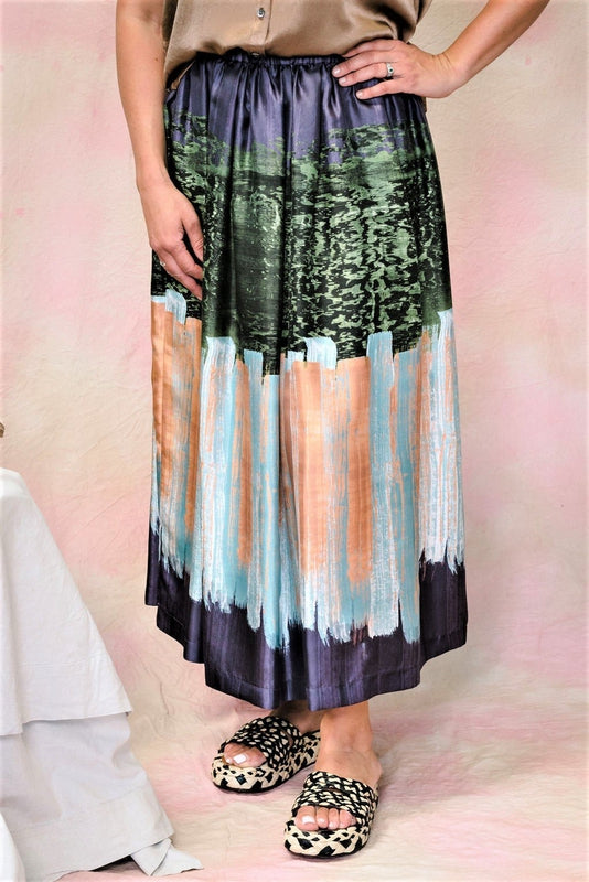 Print Silk Full Skirt-Skirt-Aspesi-Debs Boutique