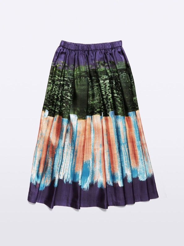Print Silk Full Skirt-Aspesi-Debs Boutique