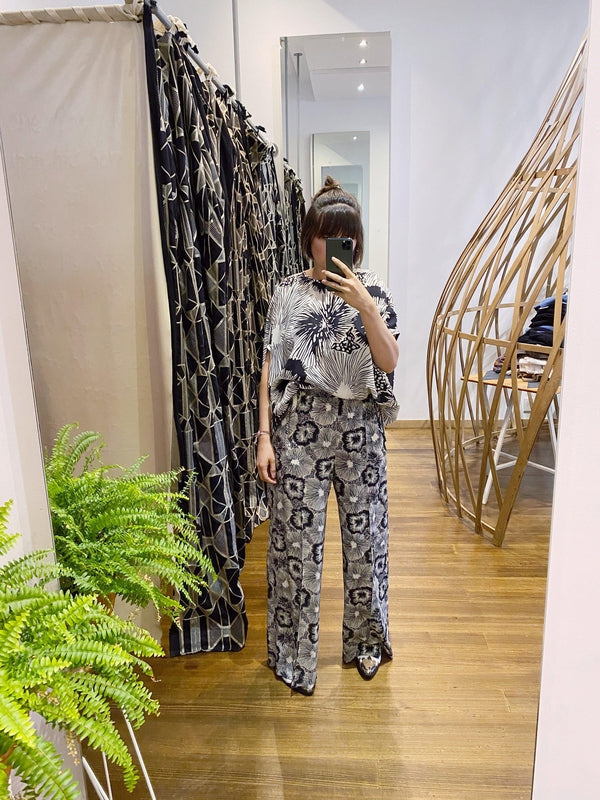 Print Silk Oversized Shell-Aspesi-Debs Boutique