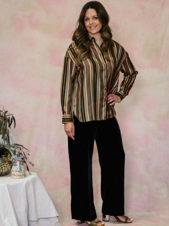Stripe Silk Shirt-Aspesi-Debs Boutique