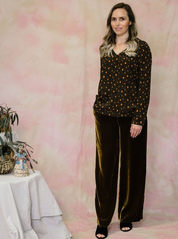 Velvet Long Trouser-Trousers-Aspesi-Debs Boutique