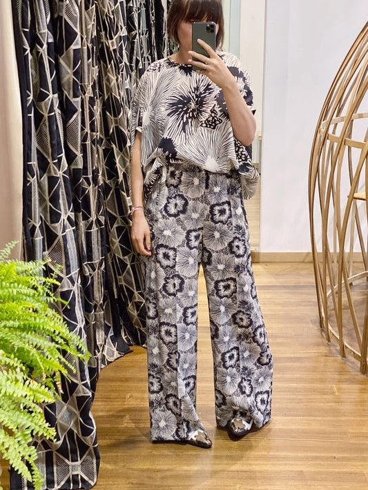 Wide Print Silk Trouser-Aspesi-Debs Boutique