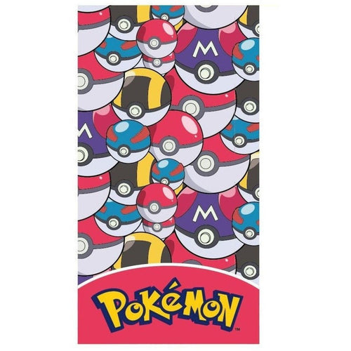 Blankets, Rugs & Towels - Pokemon Towel Pokeballs