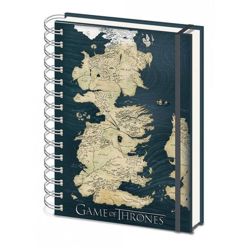 Books & Notebooks - Game Of Thrones Notebook A5 Map