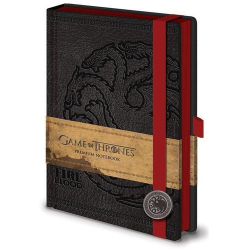 Books & Notebooks - Game Of Thrones Premium Notebook A5 Targaryen