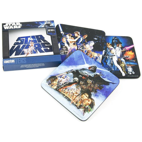 Glassware & Drinkware - Star Wars Classic Set Of 4 Coasters