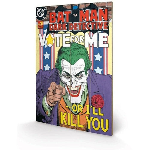 Mirrors & Wall Décor - DC Comics The Joker Vote For Me Wood Print