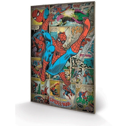 Mirrors & Wall Décor - Marvel Comics Spider-man Retro Wood Print