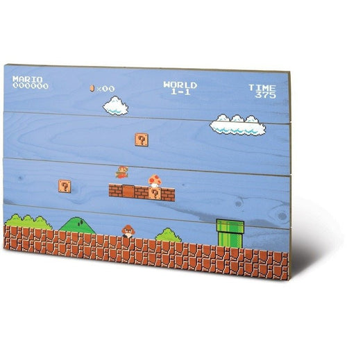 Mirrors & Wall Décor - Super Mario Bros 1-1 Wood Print