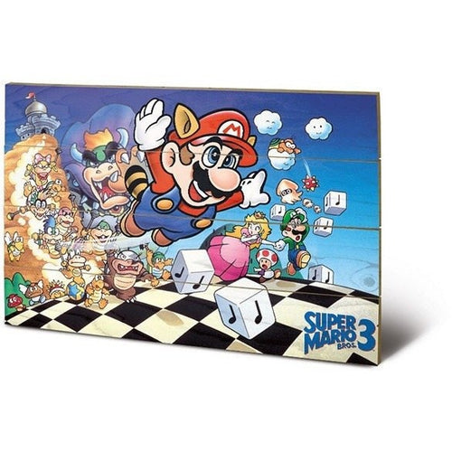 Mirrors & Wall Décor - Super Mario Bros 3 Art Wood Print