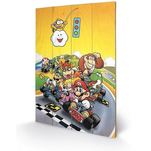 Mirrors & Wall Décor - Super Mario Kart Retro Wood Print