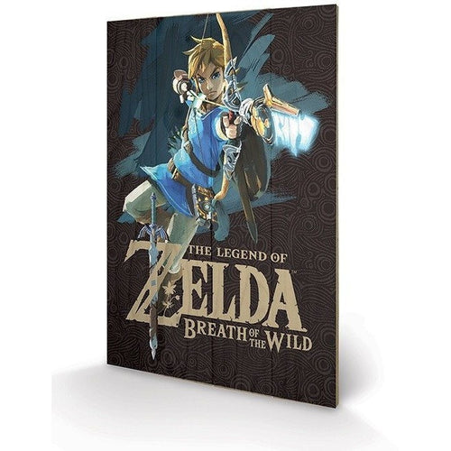 Mirrors & Wall Décor - The Legend Of Zelda Breath Of The Wild Game Cover Wood Print