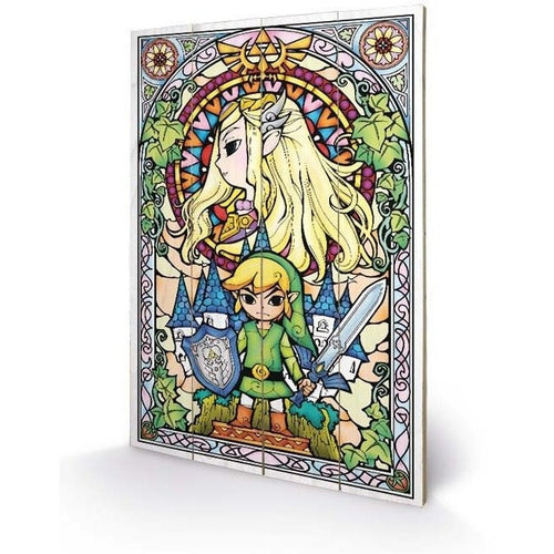 Mirrors & Wall Décor - The Legend Of Zelda Stained Glass Wood Print