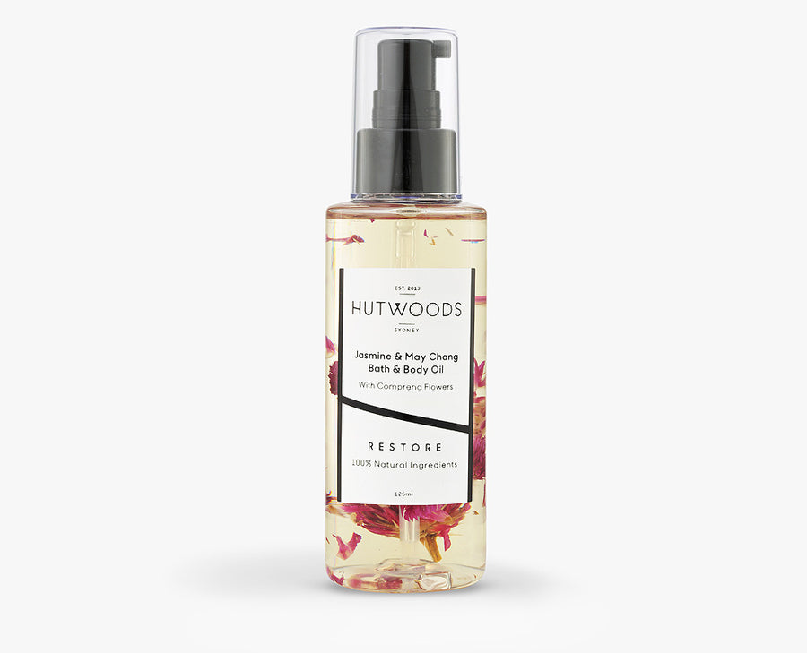 Jasmine & May Chang Body oil made with 100% natural ingredients and chemical free