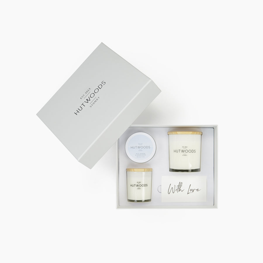 Hutwoods Trio Candle Gift Box