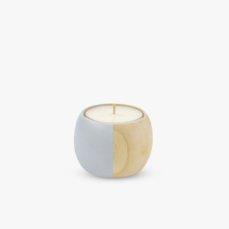 Extra Small Wooden Bowl Tea Light Holder in Grey