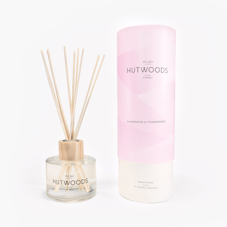 Hutwoods Champagne & Strawberries Reed Diffuser