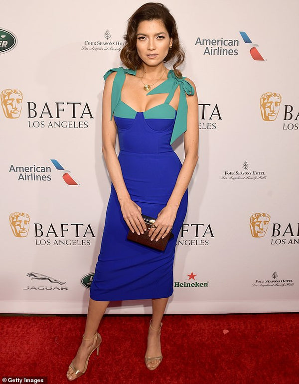 HOLLYWOOD ACTRESS BLANCA BLANCO STUNS ONLOOKERS IN GEORGY AT THE 2019 BAFTA'S