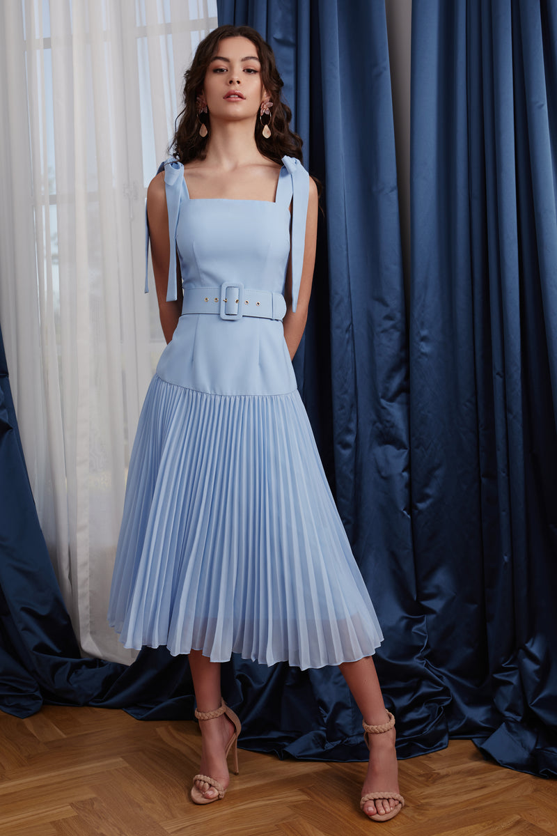 ADELE DRESS - BLUE - GEORGY COLLECTION