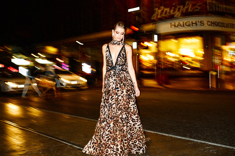 ALLEGRA GOWN - LEOPARD - GEORGY COLLECTION
